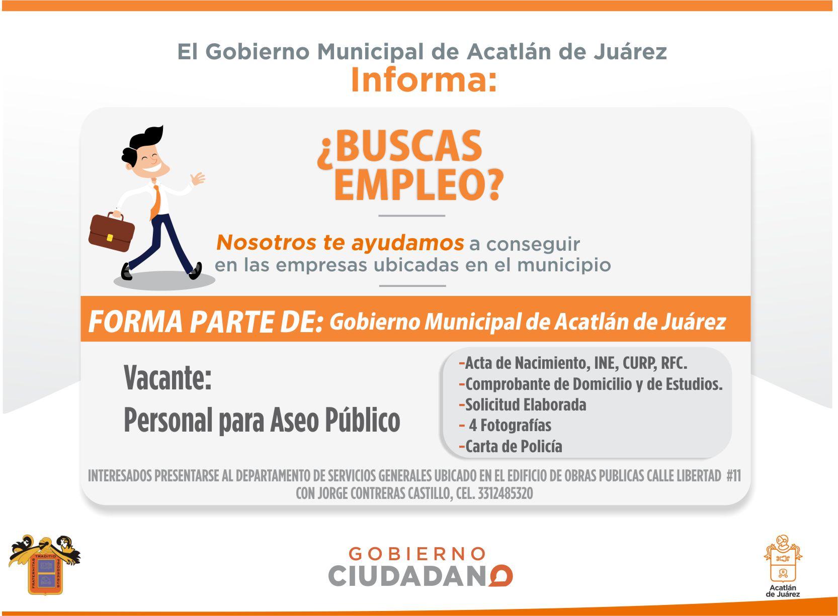 EMPLEO ACATLÁN tiene la siguiente oferta laboral: | Gob. de Acatlán ...